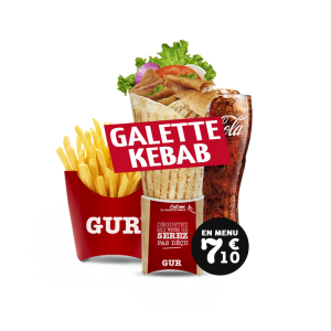 Menu Galette Kebab - GUR KEBAB