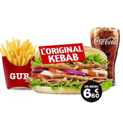 menu original kebab   restaurant/drive gur kebab